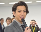 『2018年度サイバーエージェント入社式』にサプライズで登場した三浦翔平 (C)ORICON NewS inc.
