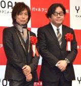 『2018年度 YOANI 入学式』に出席した(左から)つんく♂、秋元康氏 (C)ORICON NewS inc.
