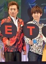 『NETFLIXアニメ祭り! スペシャルステージ』に登場した(左から)平田広明、梶裕貴 (C)ORICON NewS inc.