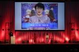 『Fate/EXTRA Last Encore』スペシャルトークステージにビデオメッセージを送った阿部敦(スクリーン)