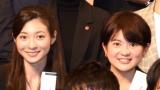 テレビ朝日の新入社員(左から) 住田紗里さん、並木万里菜さん=テレビ朝日の入社式(C)ORICON NewS inc.