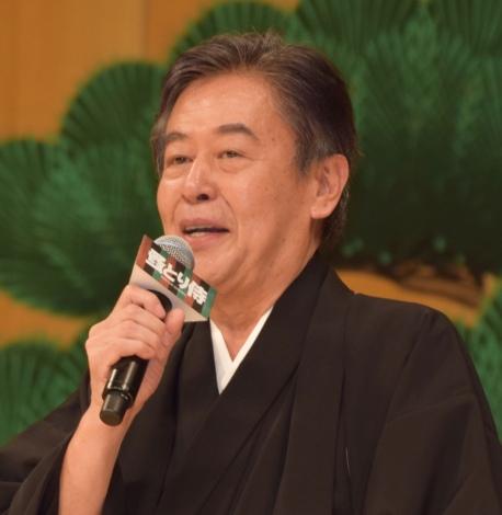 映画『のみとり侍』の完成披露舞台あいさつに出席した風間杜夫 (C)ORICON NewS inc.