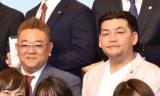 『帰れマンデー・見っけ隊!!』でMCを務めるサンドウィッチマン =テレビ朝日の入社式(C)ORICON NewS inc.