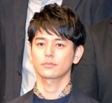 NODA・MAPの第22回公演『贋作 桜の森の満開の下』制作発表記者会見に出席した妻夫木聡