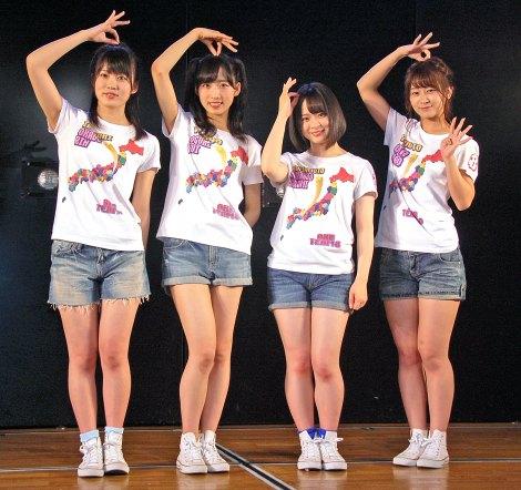 結成4周年記念公演を開催したAKB48チーム8の(左から)岡部麟、小栗有以、倉野尾成美、太田奈緒 (C)ORICON NewS inc.