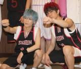 舞台『黒子のバスケ IGNITE-ZONE』東京公演の囲み取材に出席した(左から)小野賢章、安里勇哉 (C)ORICON NewS inc.