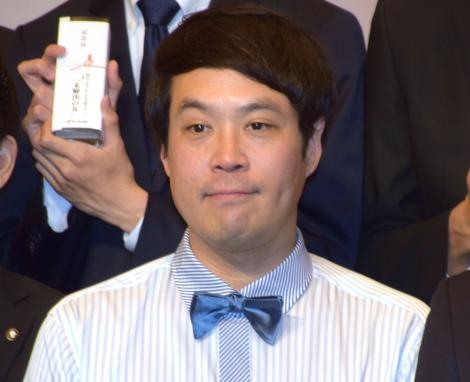 3ヶ月で17キロの減量したタカアンドトシ・タカ=テレビ朝日の入社式(C)ORICON NewS inc.