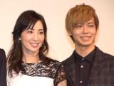 映画『娼年』の公開記念舞台あいさつに登壇した(左から)真飛聖、猪塚健太 (C)ORICON NewS inc.