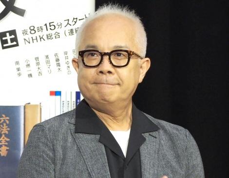 NHK『やけに弁の立つ弁護士が学校でほえる』の試写会後会見に出席した小堺一機 (C)ORICON NewS inc.