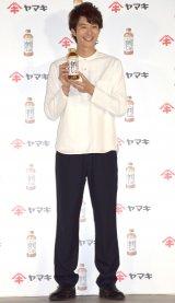 ヤマキ『割烹白だし』の新CM発表会に参加した岡田将生 (C)ORICON NewS inc.