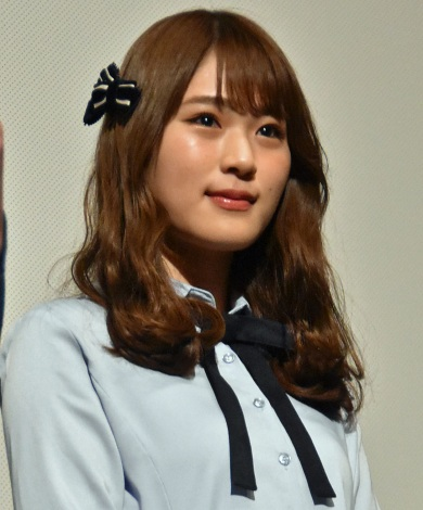 映画『海辺の週刊大衆』初日舞台あいさつに出席したNMB48・渋谷凪咲 (C)ORICON NewS inc.