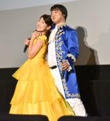 映画『美女と野獣』大ヒット記念イベントに出席した(左から)横澤夏子、斉藤慎二 (C)ORICON NewS inc.
