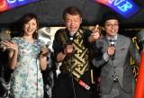 映画『孤狼の血』公開記念トークイベントに登場した(左から)麻美ゆま、玉袋筋太郎、赤ペン瀧川先生 (C)ORICON NewS inc.