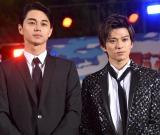 D映画『OVER DRIVE』(6月1日公開)のスペシャルステージに参加した東出昌大、新田真剣佑 (C)ORICON NewS inc.