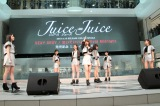 10枚目シングル発売記念イベントを開催したJuice=Juice(左から)植村、段原瑠々、高木、金沢、宮本佳林、染川、宮崎