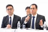日本での追求権導入を日本政府に呼びかけるべく来日した、CISAC事務局長のガディ・オロン氏(右)とCISACアジア・太平洋地域代表のベンジャミン・グー氏 (C)oricon ME inc.