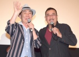 映画『ドーベルマン刑事』のトークショーに出席した(左から)桂文枝、千葉真一 (C)ORICON NewS inc.