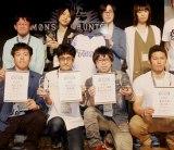 『モンスターハンター:ワールド狩王決定戦2018』東京大会の勝者4チーム (C)ORICON NewS inc.