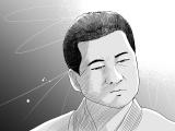 MBS・TBSドラマ『やれたかも委員会』原作者・吉田貴司によるお祝いイラスト。慈愛の表情を浮かべる能島譲(佐藤二朗)(C)吉田貴司