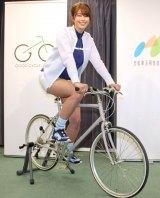 『自転車アンバサダー任命式』に出席した稲村亜美 (C)ORICON NewS inc.