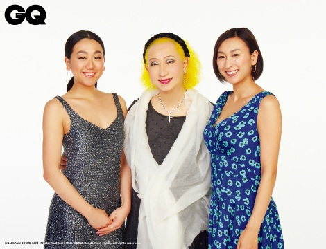 『GQ JAPAN』で鼎談した浅田舞&真央姉妹と美輪明宏  (C)2018 Conde Nast Japan. All rights reserved.