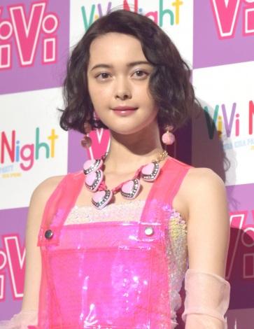 『ViVi Night in TOKYO 2018 KIRA KIRA PARTY SPRING』前の囲み取材に出席した玉城ティナ (C)ORICON NewS inc.