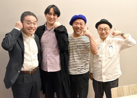 (左から)米粒写経、マキタスポーツ、プチ鹿島 (C)ORICON NewS inc.