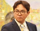 『真打昇進披露興行』の記者会見の会場にいた林家三平 (C)ORICON NewS inc.