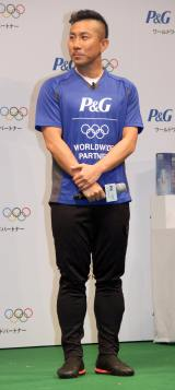 P&G「ママの公式スポンサー」東京2020オリンピック観戦チケットキャンペーン発表会に出席した前園真聖 (C)ORICON NewS inc.