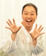 テレビ静岡制作フジテレビ系全国ネット『爆笑問題の深海WANTED』スタジオ収録後囲み取材に出席したいとうあさこ