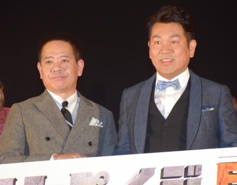 FUJIWARA(原西孝幸、藤本敏史)=映画『ランペイジ 巨獣大乱闘』ジャパンプレミア (C)ORICON NewS inc.
