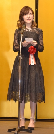 『第43回 菊田一夫演劇賞』授賞式に出席した神田沙也加 (C)ORICON NewS inc.