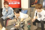 マーベルトークで盛り上がる(左から)花村想太、中川大志、小野賢章 (C)ORICON NewS inc.