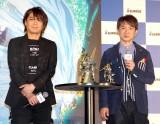 ガンダムシリーズの新作発表会に出席した(左から)浪川大輔、濱口優 (C)ORICON NewS inc.