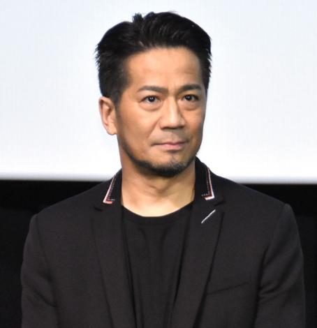 映画『ウタモノガタリ-CINEMA FIGHTERS project-』完成披露上映会の舞台あいさつに出席したEXILE HIRO (C)ORICON NewS inc.