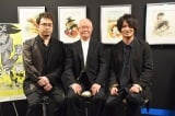 連載50周年記念『あしたのジョー展』の内覧会に出席した(左から)安元洋貴、ちばてつや氏、細谷佳正 (C)ORICON NewS inc.