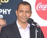『コカ・コーラ FIFA ワールドカップ トロフィーツアー』の到着セレモニーに参加したジウベルト・シウバ氏 (C)ORICON NewS inc.