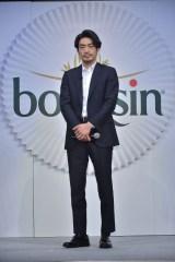 俳優・大谷亮平が、ベルジャポンのチーズ『ブルサン』のアンバサダー就任発表会に出席
