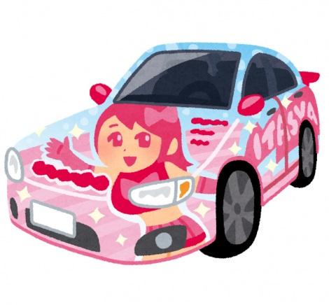 ボディにステッカーやラッピングを施した「痛車」。自動車保険への加入はできるのだろうか(画像はイメージ)
