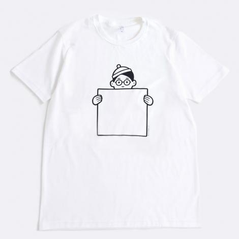 """サムネイル Noritakeが描く""""ウォーリーの格好をしたウォーリー大好きな「WALLY BOY」""""柄 Tシャツ(税抜3500円)"""