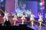 (左から)豊永阿紀、矢吹奈子、指原莉乃、松岡はな、宮脇咲良=『HKT48春のアリーナツアー2018〜これが博多のやり方だ!〜』沖縄公演(C)AKS