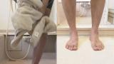 バスマット、足をふいてから乗る?そのまま乗る?(C)NHK