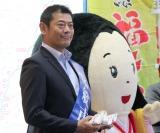 『がんばっぺ!常総フェスティバル2018』直前PRイベントに出席した(左から)神達たけし常総市長、姫ちゃま (C)ORICON NewS inc.