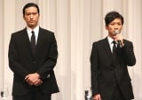 謝罪会見をおこなったTOKIO(左から)長瀬智也、国分太一 (C)ORICON NewS inc.