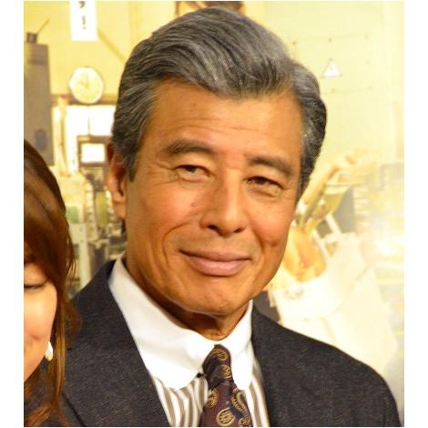NHKドラマ10『マチ工場のオンナ』の試写会後会見に出席した舘ひろし (C)ORICON NewS inc.