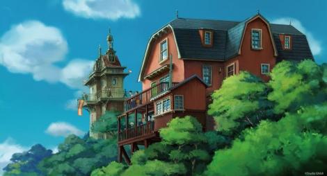 愛知・長久手で2022年度中の開業を目指す『ジブリパーク』メーンゲート(青春の丘エリア)は映画『ハウルの動く城』などのスタジオジブリ作品に見られる19世紀末の空想科学的なデザインに(C)Studio Ghibli