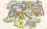 愛知・長久手で2022年度中の開業を目指す『ジブリパーク』ジブリの大倉庫エリア(全体イメージ)(C)Studio Ghibli