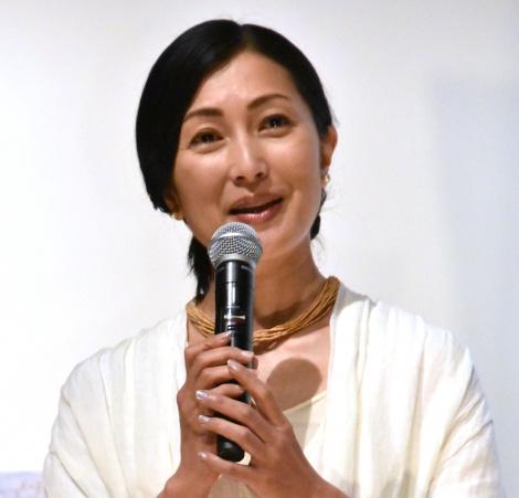 鶴田真由=映画『海を駆ける』完成披露試写会 (C)ORICON NewS inc.