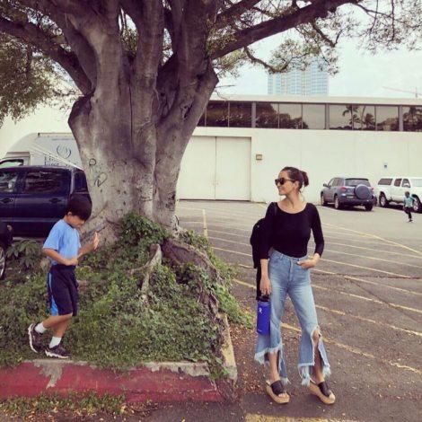 サムネイル ブログで愛息子との2ショットを公開した梨花