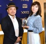 (左から)白石和彌監督、柚月裕子氏 (C)ORICON NewS inc.